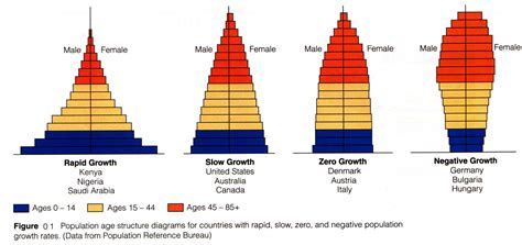 Age Structure Diagram by Population Growth And Its Effects On Environment And