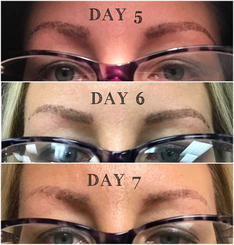 microblading healing day  day   day  healing