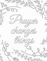 Prayer Changes Coloring Printable Pantry Template Sketch Promise Prayers Sunday Templates sketch template