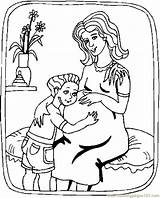 Pregnant Coloring Mom Colouring Child Tomada Decision Mejor Printable Pdf Popular Coloringhome sketch template