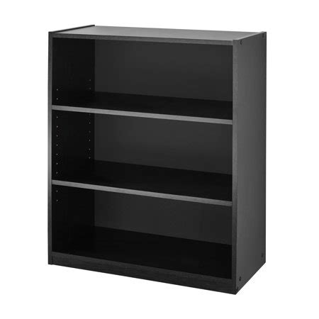 3 Foot Wide Bookcase by Mainstays 31 Quot 3 Shelf Bookcase Finishes