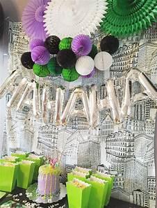 Happy Birthday Avery Joker Party Avery 39 S 3rd Birthday Party Villains Party