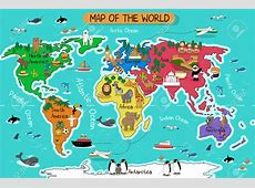 A Vector Illustration Of Map The World Royalty Free