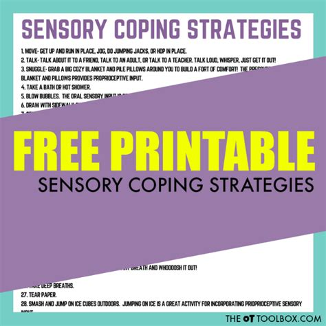 Sensory Coping Strategies For Kids  The Ot Toolbox