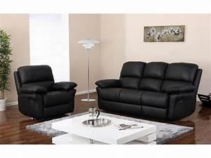 Canapé Cuir Fauteuil : canap ou fauteuil relax en cuir 3 coloris milagro ~ Premium-room.com Idées de Décoration