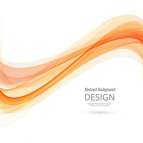 Top Vector Backgrounds by Modern Orange Wave Background Vector Free