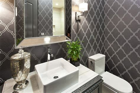 Powder Rooms : 20 Gorgeous Wallpaper Ideas For Your Powder Room