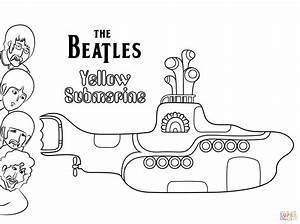 The Beatles Yellow Submarine cover art coloring page Free Printable Coloring Pages