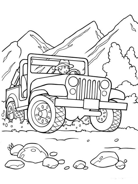road vehicle coloring pages   print