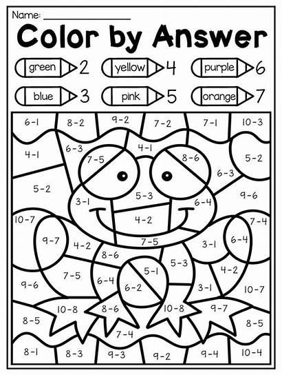 Math Kindergarten Worksheets Spring Worksheet Pack Coloring