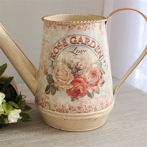 shabby chic watering can metal can garden gift accessory jug small water can shabby chic country farm ebay
