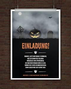Gruselige Halloween Sprüche : gruselige halloweeneinladung geburtstag party ~ Frokenaadalensverden.com Haus und Dekorationen