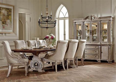 Orleans Antique White Dining Table Set