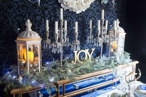 beautiful blue  white christmas home decorating ideas