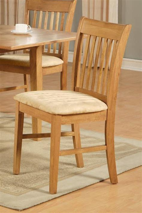 light oak kitchen chairs 1 norfolk dinette kitchen dining chair with cushion seat 7002