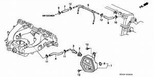 1996 Honda Civic 3 Door Cx Ka 5mt Breather Chamber  Down Flow