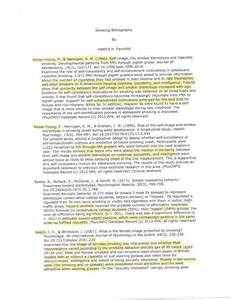 Annotated Bibliography Example APA Style