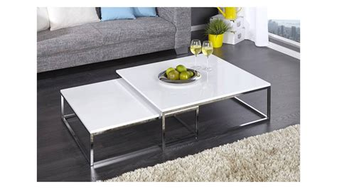 Table Basse Table Basse Laque Blanc