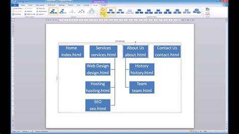 creating  sitemap  microsoft word smartart youtube