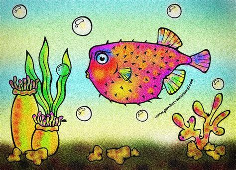 gambar ikan kartun mewarnai