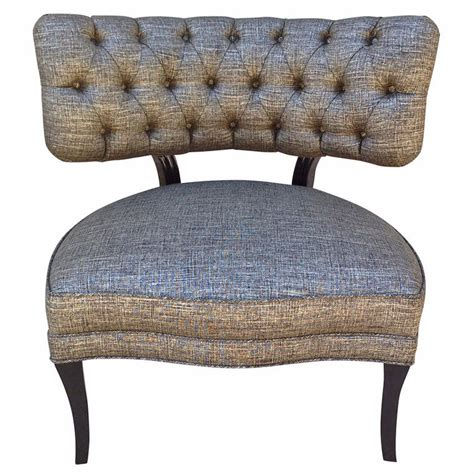 billy haines style tufted slipper chairs for sale at 1stdibs