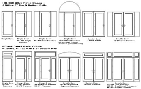 swing patio door options and accessories