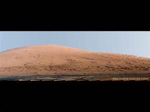 NASA - Mount Sharp Panorama in White-Balanced Colors