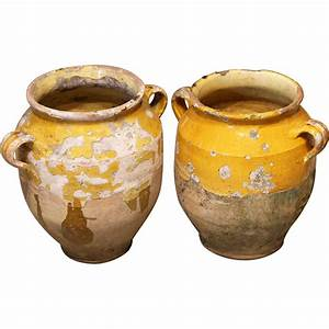 Pair, Of, Earthenware, U0026, 39, Confit, U0026, 39, Pots, From, France, From, Relic, On, Ruby, Lane