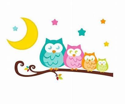 Owl Nursery Tree Branch Clipart Clip Church