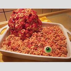 Halloween Nudelsalat Mit Blumenkohlgehirn  Halloween Food