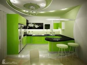 Five fresh kitchen with green design by koshkina elena for Fresh kitchen designs
