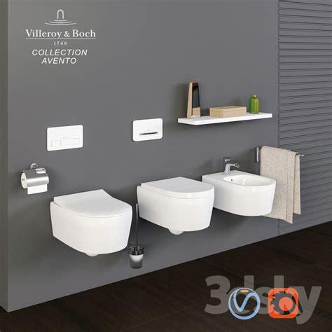 villeroy boch avento 3d models toilet and bidet villeroy boch collection avento toilet bowl bidet