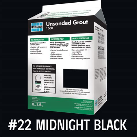 laticrete unsanded tile grout midnight black 8lb