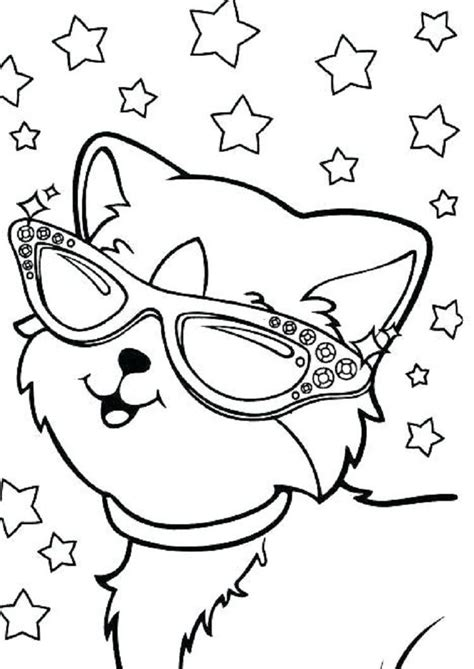 Lisa Frank Kitten Coloring Pages Download or print the