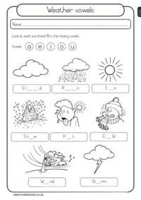 weather vowels learn weather weather worksheets 1st