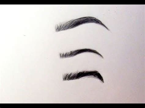 draw realistic eyebrows youtube