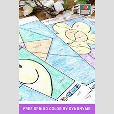 Free Spring Color By Synonyms Printable Worksheets