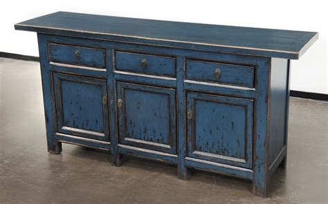 Blue Sideboard Buffet Media Cabinet  Custom Furniture Gallery