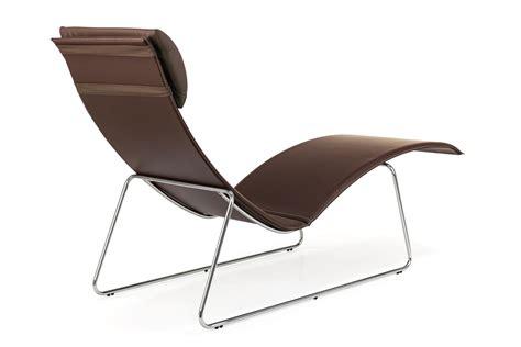 chaise longue cuir relax chaise longue midj en métal et cuir coussin en