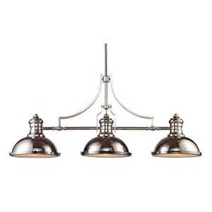 nautical industrial linear island pendant light 66115