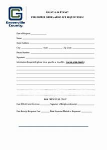 foia request form greenville county printable pdf download With foia request template