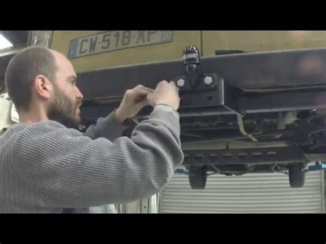 branchement faisceau attelage berlingo 3 installation d un faisceau d attelage sur trafic