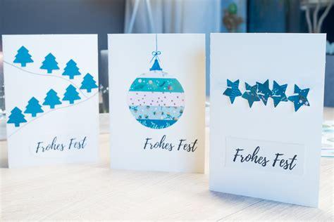 weihnachtskarten zum selber machen weihnachtskarten selber machen 3 einfache ideen