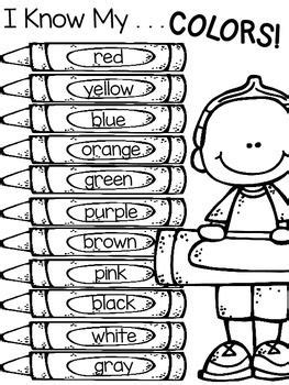 color words freebie color activities color