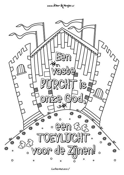 Kleurplaat Dankdag Voor Gewas En Arbeid by Christelijke Kleurplaten Op Kleurversjes Een Vaste Burcht