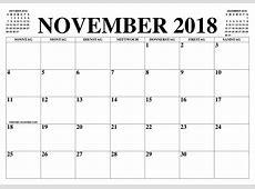 KALENDER NOVEMBER 2018 NOVEMBER 2018 2019 2019