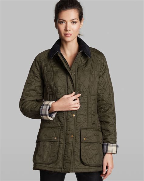 barbour beadnell quilted jacket barbour jacket beadnell polar quilted in blue lyst