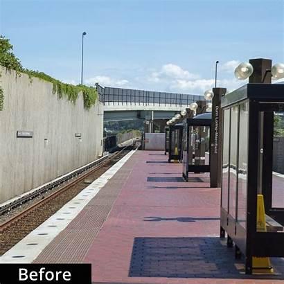 Station Wmata Dunn Loring Metro Before Rail