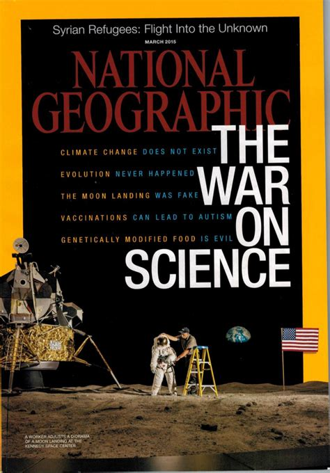 science national geographics latest cover  war
