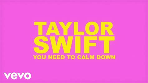 Taylor Swift - You Need To Calm Down (Lyric Video) Chords ...